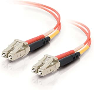 C2G/Cables to Go 33109 LC-LC 62.5/125 OM1 Duplex Multimode PVC Fiber Optic Cable, Orange (6 Meter)