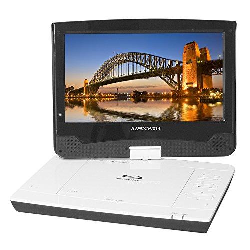 ポータブル ブルーレイプレーヤー Blu-ray 10.1インチ DVDプレーヤー ポータブル リージョンフリー 車載バッグ リアモニター ACアダプター シガーソケット付き WSVGA液晶採用! 車載用 キット付き USB/SD カードスロット搭載