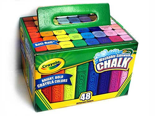 Washable Sidewalk Chalk, 48 Assorted Bright Colors by Crayola