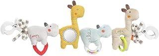 Fehn 059137 Kinderwagenkette Loopy & Lotta – Mobile Kette mit süßen Anhänger-Figuren zum flexiblen Aufhängen – Für Babys und Kleinkinder ab 0 Monaten – Länge: 45 cm