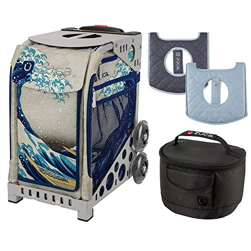 Zuca Great Wave Sport Insert Bag & Gray Frame with Seat Cushion & Lunchbox