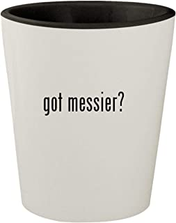 got messier? - White Outer & Black Inner Ceramic 1.5oz Shot Glass