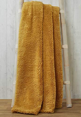 Rapport rapport-teddy-throw-ochre-200x240 Snuggle Superweicher Teddy-Fleece-Überwurf, 100% Polyester, Ocker, 200 x 240cm