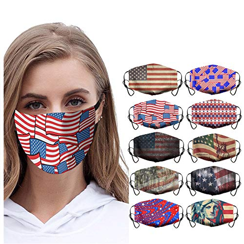 Great Price! 10Pcs Womens Teen Girls Floral Print Cotton Face Bandanas Reusable Comfortable Breathab...
