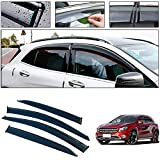 4 Pcs/Set Tape-On Outside-Mount Side Window Wind Deflectors Rain Guard for 2015-2018 Mercedes-Benz GLA Front Rear Car Rooftop Visors Accessories & Body Parts