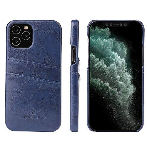 AIW Funda De Cuero para Teléfono Móvil, Diseño De Patrón De Cera con Ranura para Tarjeta, Adecuada para Iphone12 Pro (6,1') (Iphone12Pro(6,1'), Azul)