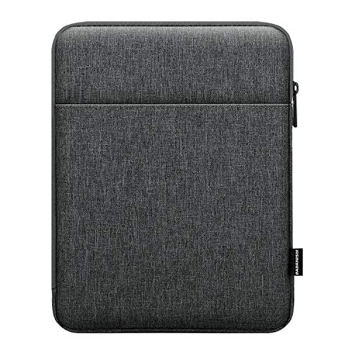 Dadanism 9-11 Zoll Tablet Tasche für New iPad 10,2 2021-2019, iPad Air 4 10,9 2020, iPad Pro 11 2021-2018, Galaxy Tab A7 10,4 2020, Tab S6 Lite 10,4 2020, Polyester Tablet Schützen Tasche, Dunkelgrau