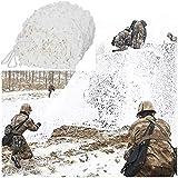 Lww Filet De Camouflage Blanc Camouflage Net 3mx5m, Filet De Renfort Renforcé Filet De Protection Contre Soleil, for Cacher Tente Pêche Décoration Jardin Voiture Camping Carport Tente D'ombre 3mx3m