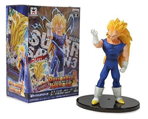 Banpresto Figurine héros Vegeta Dragon Ball Super Saiyan avec Carte 15,2 cm