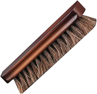 JTKDL Horsehair Shoe Shine Brushes with Horse Hair Bristles for Boots, Shoes Other Leather Care Horsehair Shoes Polish Brushes Care Clean