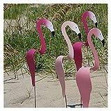 Wirbelvogel Flamingo - Wunderlicher Und Dynamischer Vogel, Der Mit Der Leichten Gartenbrise Spinnt, Flamingo Windspiele Für Home-Terrasse Backyard Party Decor ( Color : Pink Flamingo , Size : 3PCS )