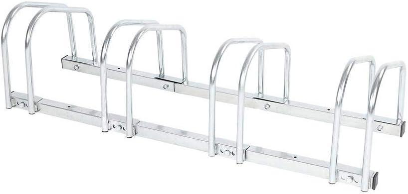 HURRISE 4 Racks Bike Floor Stand S for Popular Fees free!! overseas Indoor Stainless Outdoor