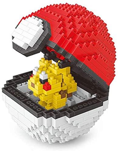 Longxs Building Bricks Building Block Pokemon Model Building Block Set 400 + Pcs Pokemon Ball Nano Mini Blocks DIY Dolls 3D Puzzle DIY Educational Doll Apto para Regalo de niños-Pikachu