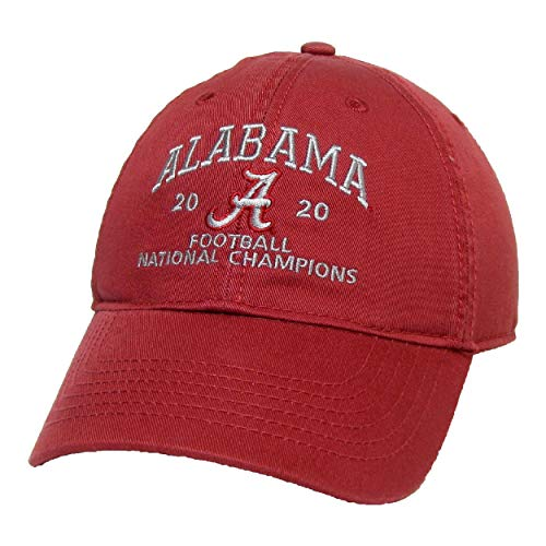 LEAGUE | LEGACY NCAA Alabama Crimson Tide 2020 CFP National Champion Unisex Relaxed Twill Verstellbar, Kardinal Hut