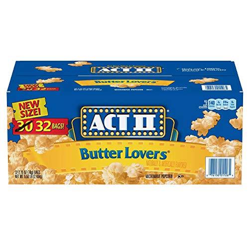Act II Butter Lovers Mikrowellen-Popcorn, 32 Packungen