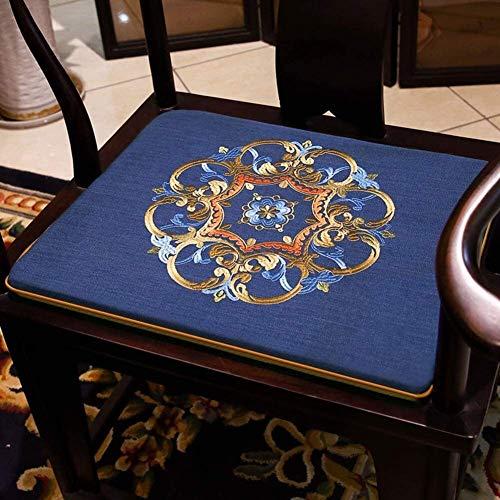 Mirui Chinese Rosewood Chair Cushion,futon Seat Cushion,non Slip Washable Chair Pad,tatami Floor Cushion,solid Wood Chair Cushion (Color : O, Size : 50x44cm(20x17inch))