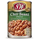 S&W - Pinto Chili Beans - Canned Beans - 15.5 Ounce Can (Pack Of 12)