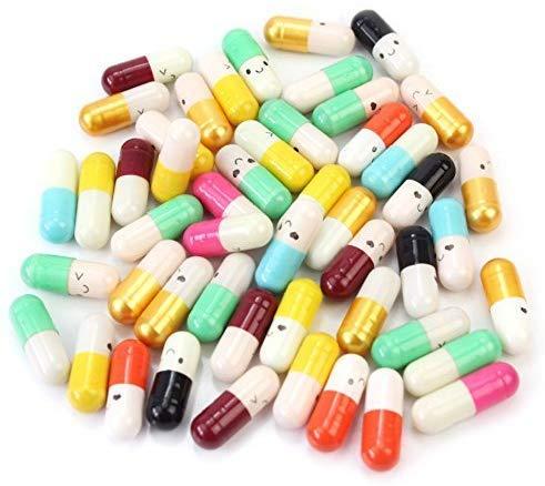 HANBIN con papel Scrip píldora de amor linda carta amor amistad paquete color aleatorio cápsula de mensaje regalo de píldora de color 100 piezas 200pcs