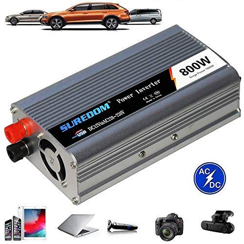 Kymzan Reiner Sinus Spannungswandler 500W/800W/1000W/1200W/2000W,Auto Wechselrichter 12v/24v auf 110v/220v - Inverter Konverter mit Steckdose und USB-Port,24vTo110v-800W