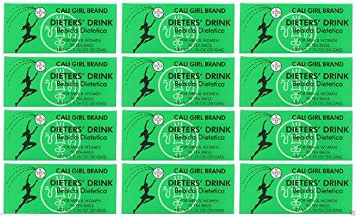 Lot of 24 Cali Girl Brand Dieters' Tea Drink For Men and Women (144 Tea Bags)