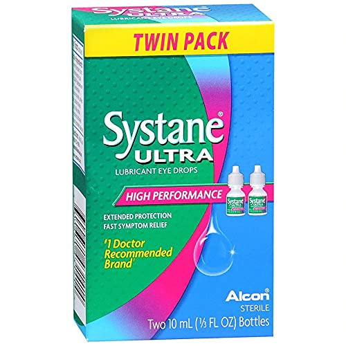 Systane Ultra Lubricant Eye Drops, 2-count .33 fl oz (10 ml) Bottle by Systane