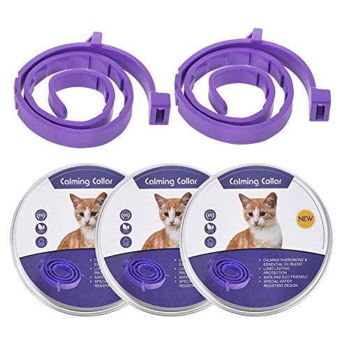 POPETPOP 5 Piezas de Cuello Calmante para Gatos Feromonas Naturales para Todos Los Gatos