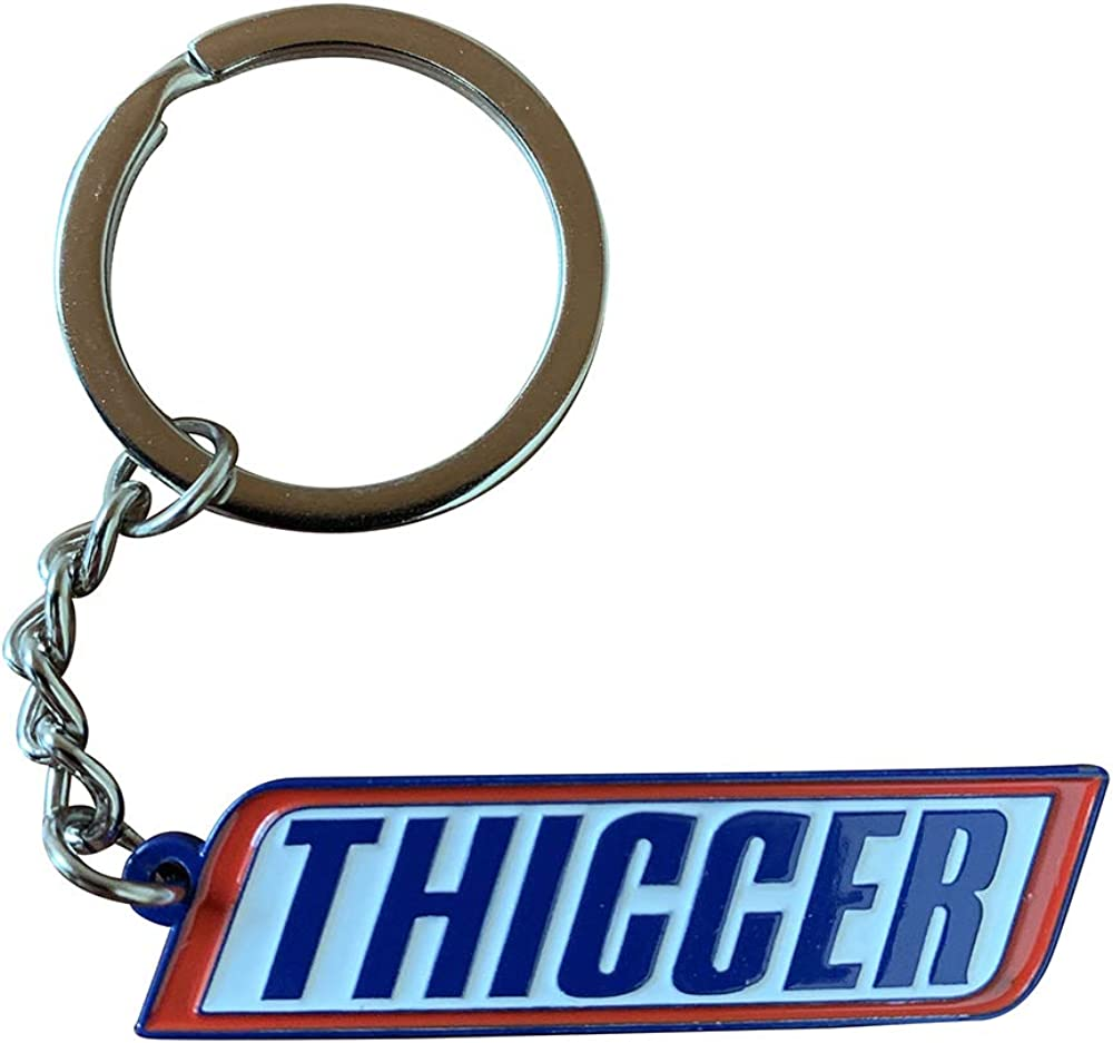 Prime Creations THICCER Cute Keychain for Girlfriend or Boyfriend, Fun Keychains for Women & Men, Gifts for Girls & Boys | Funny Key Chain