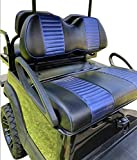 Huskey Club Car Precedent Seat Covers Front & Rear Blue Black Color Perfect Replacement Covers Staple on