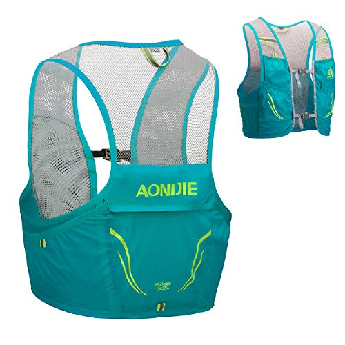 TRIWONDER Mochila de Hidratación Ligero 2,5L Superior Chaleco para Trail Running Ciclismo Marathoner Profesional Hombre Mujer (Azul Menta - Solo Chaleco, M/L (90-102 cm))