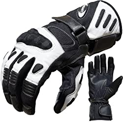 PROANTI Motorcycle Gloves Summer Motorcycle Gloves (Size M - XXL, White)