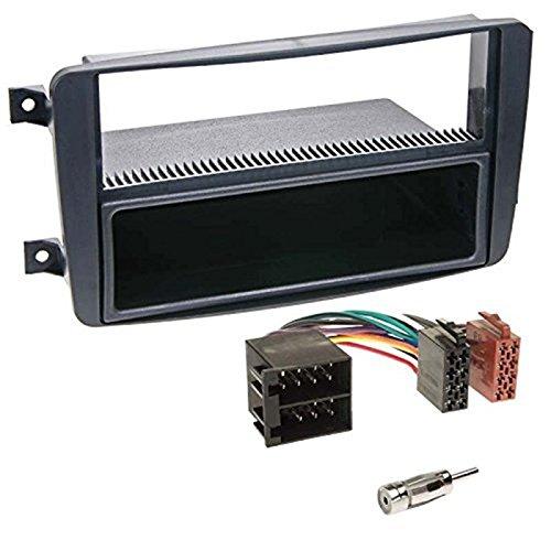 Sound-way 1 DIN Radiopaneel Frame Autoradio, Antenne Adapter, ISO Aansluitkabel, Demontage Sleutels, ondersteuning voor Mercedes C-Klasse, CLK, Viano, Vito