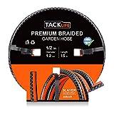 TACKLIFE Tubo da Giardino, Tubo Flessibile in PVC da 15 m, ½ 12 mm, Resistenza alla trazione, Spessore del Tubo di 2,7 mm, Pressione di Rottura di 30 Bar, 500 Ore Anti-UV - GWH2B