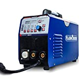 TOXINCE3 in 1 Multi-Function TIG/MMA/MIG Welder Dual Voltage 110V/220V Welding Machine 200A Flux Core Wire Soild Core Wire Gas/Gasless IGBT Welding Equipment MIG235