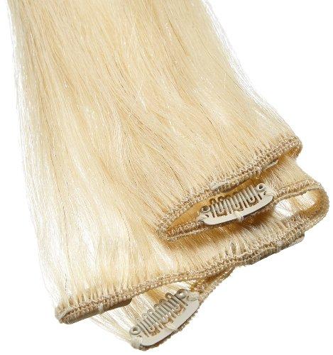 American Dream Einteilige 100% Echthaar-Clip-In-Extensions Farbe 60/613 - klares Blond/Cremeblond - 61cm, 1er Pack (1 x 1 Stück)