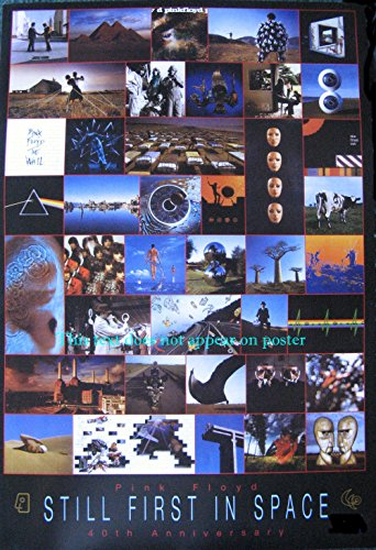 Pink Floyd 40th Anniversary Album-Art Collage Poster 14.5 x 21 Great Gift Roger Waters David Gilmour Nick Mason (Sent from USA in PVC Pipe)