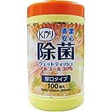 NKK 除菌ウェットティッシュ アルコール30% 厚口タイプ(100枚入)