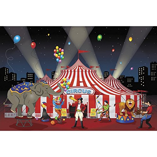 Fun Express Carnival Backdrop Banner (1 Piece)