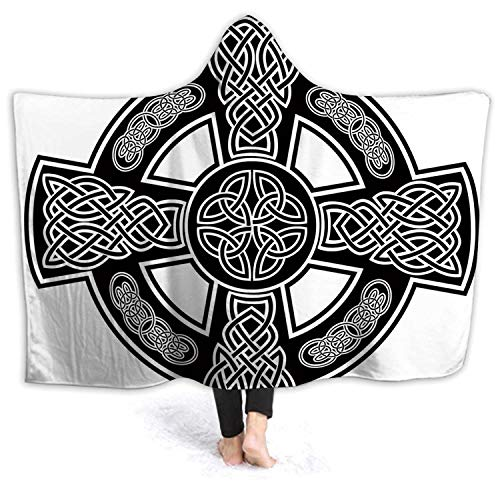 Tstyrea Celtic,Wele Throw Blanket Microfiber Bedding Fluff Blankets Bed Couch Travel Kids and Adults Romanesque Classic Celtic Form Linked Lines Sacred Geometr Cultural Colorful M 60''x50''(WxH)
