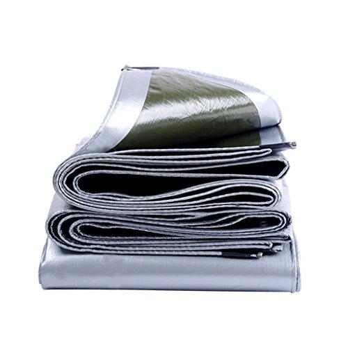 ZZYE Lona Refugio Impermeable a Prueba de Agua, protección Solar a Prueba de Sol, albergue de plástico, toldo de Lona, Espesor, 0,35 mm, ejército Verde + Plata, 200 g / m2 Lona Impermeable