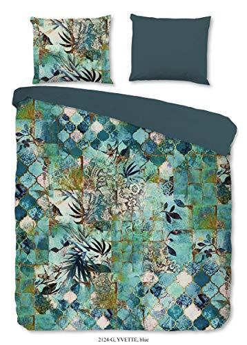 Good Morning! Renforcé Bettwäsche 2 teilig Bettbezug 135 x 200 cm Kopfkissenbezug 80 x 80 cm Yvette 2124.20.08 Blue