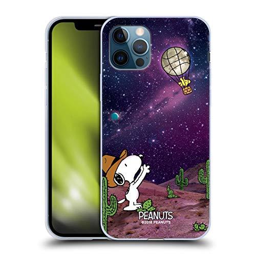 Head Case Designs Licenciado Oficialmente Peanuts Globo Nebulosa Woodstock Snoopy Space Cowboy Carcasa de Gel de Silicona Compatible con Apple iPhone 12 / iPhone 12 Pro