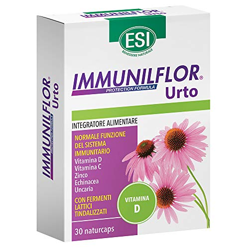 ESI Immunilflor - Urto Vitamina D Integratore Sistema Immunitario, 30 capsule