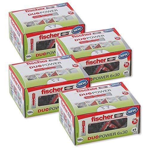 Gardopia Sparpaket: Fischer Universaldübel Duopower 6x30 LD 4x 100 Stück