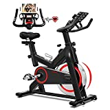 LABODI Indoor Cycling Bike Stationary, Belt Drive Indoor Exercise Bike for Home Cardio Gym, with 35 LBS Upgraded Solid Flywheel, LCD Display & Comfortable Seat Cushion