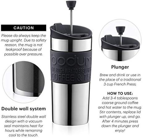 Bodum - 11067-294 - Travel Press - Mug à Piston Petit Modèle - 0,35 L - Rouge