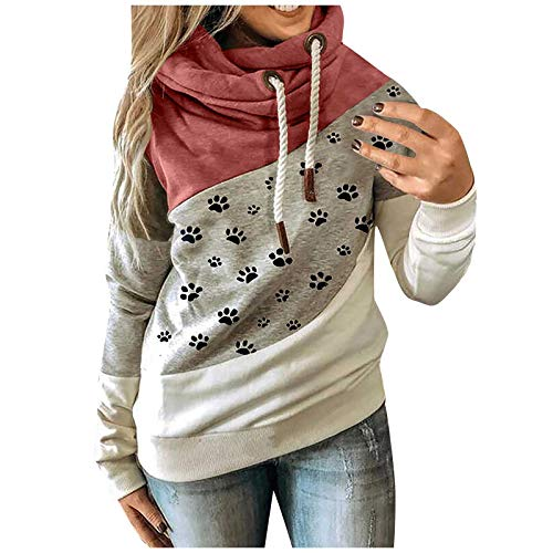 Black Sweatshirt White Crop Top Mens Pullover Hoodie Ladies Tops and Blouses Oversized Cardigan Outerwear Jackets & Coats Womens Fall Hoodies for Girls(C-Red,M)
