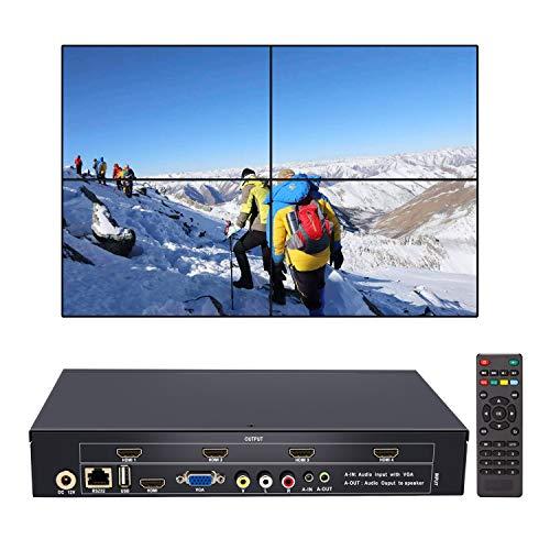 2x2 Video Wall Controller HDMI Processore USB+HDMI+VGA+AV HD TV 1080P Matrix Controller Splicer Splitter