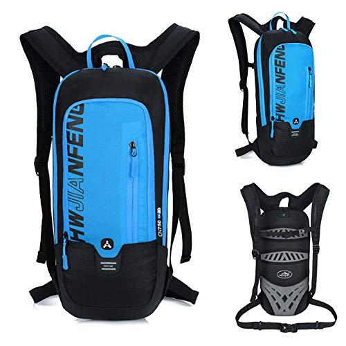 OUYA Bike-Rucksack 10L Wasserdicht Atmungs Radfahren Trinkrucksack Sport Rucksack, für Outdoor Trekking Reitaktivitäten,Blau