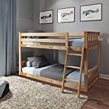 Max & Lily Twin Low Bunk Bed, Natural