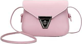OULII Cute Mini Purse Fashion PU Leather Shoulder Diagonal Bag Sling Bag All-match Crossbody Bag Handbag Purse Travel Carrier Bags For Women Girls (Pink)